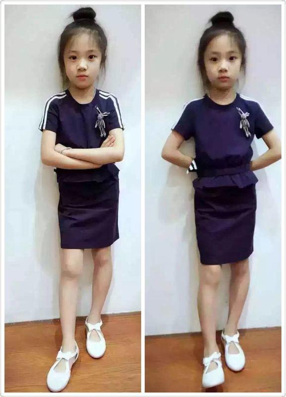 米專櫃正品2016夏季新品 女童韓版純棉連衣裙可做子裝1608