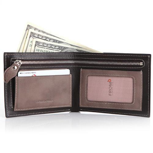 韓國 Fromb 牛皮皮革男士10卡位錢包 真皮錢包 有零錢袋 2折短夾 短夾 皮夾 真皮皮夾 短款皮夾