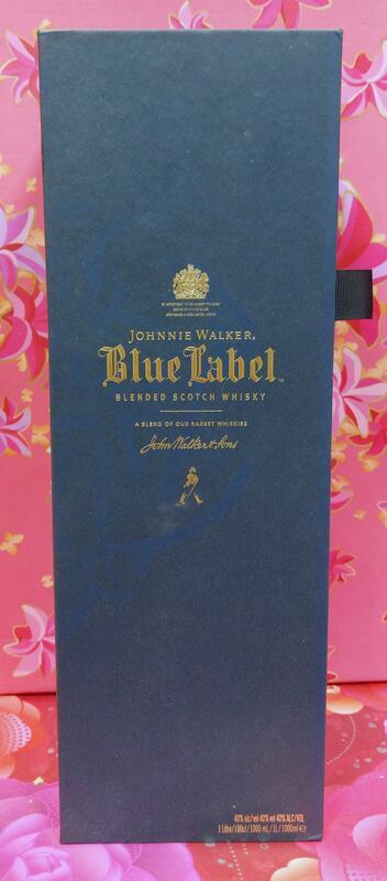 """還不錯滴♡♥~D376~Johnnie walker 約翰走路藍牌 """"精美空盒""""1L~♥♡~708g~"""