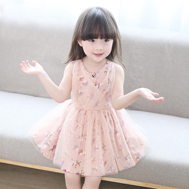 童裝夏裝2016純棉女童連衣裙小女孩碎花寶寶公主裙夏季兒童裙子潮