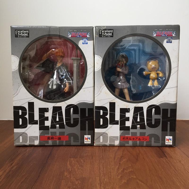【全新品】BLEACH 死神 MegaHouse PVC 第一代 初版 黑崎一護+朽木露琪亞