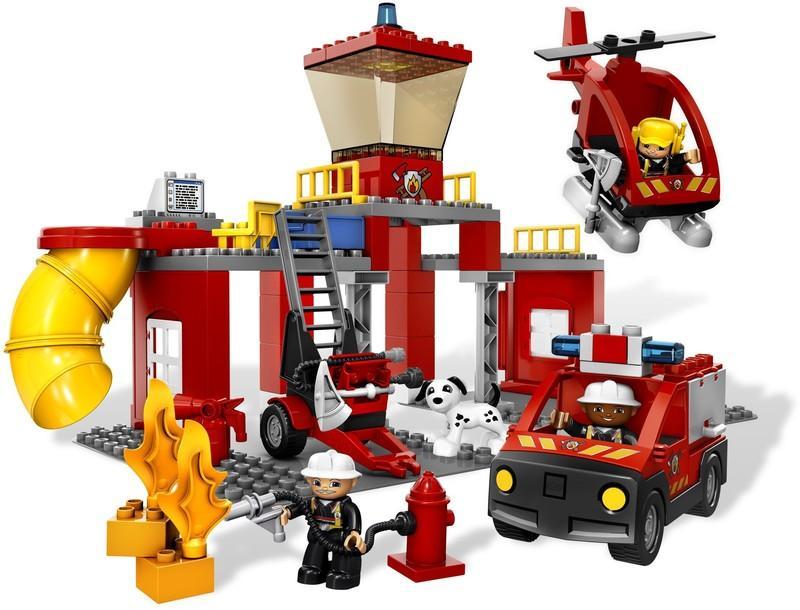 LEGO DUPLO 5601 全新未拆封樂高得寶豪華消防局2008年已絕版6168 10593 ...