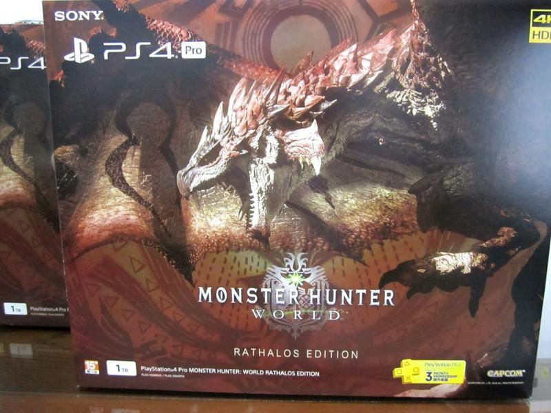 【現貨】可貨到付 PS4 Pro 魔物獵人 世界 火龍同捆機 台灣公司貨 一年保固 全新品 特仕主機同捆組