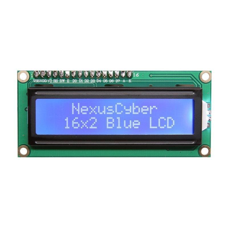 ►62◄LCD 1602A 白色字 藍色背光 5V (送排針) 16x2 16*2 藍底白字 液晶顯示模組