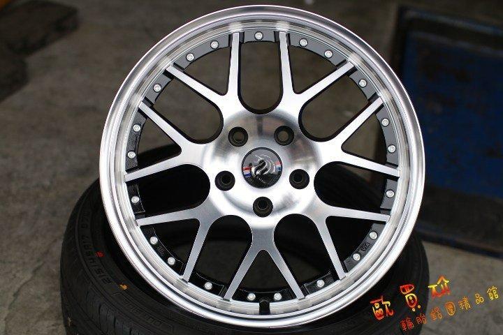 +歐買尬輪胎館+全新RH375~17吋鋁圈~5X114~5X100~7.5J~ET40~黑底車面~特價商品~數量有限