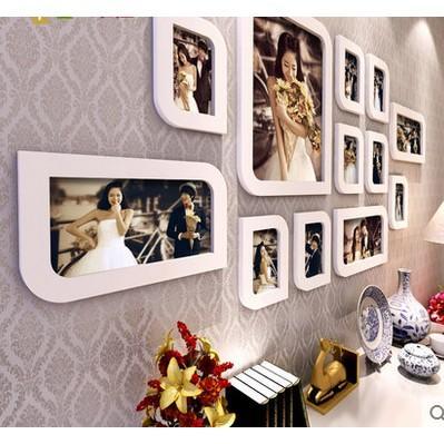 婚紗照片牆創意掛牆相框牆 客廳田園相片牆臥室韓式畫框組合