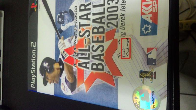 網路小站-特價出清-PS2 遊戲光碟all-star baseball 2003