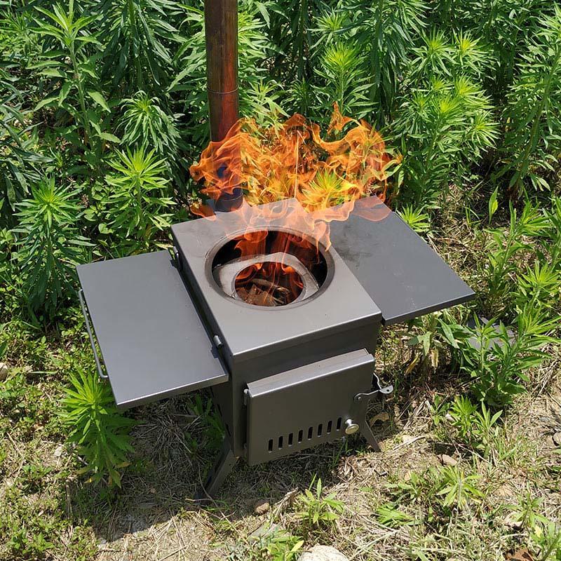 柴爐.露營燒柴爐.木柴爐 (中號)送收納木箱