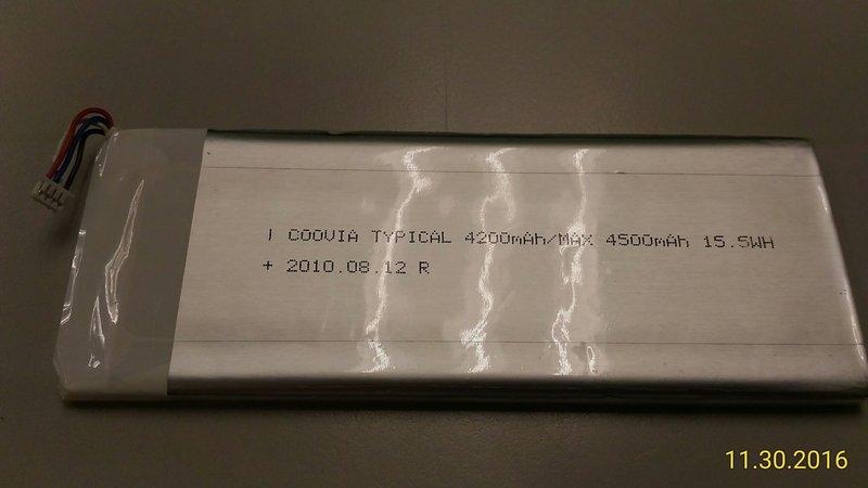 改裝聖品,全新的--通用型內含保護板的3.7V聚合物4500毫安 15.5wh 超薄鋰電池(原平板電腦用).適合改裝.