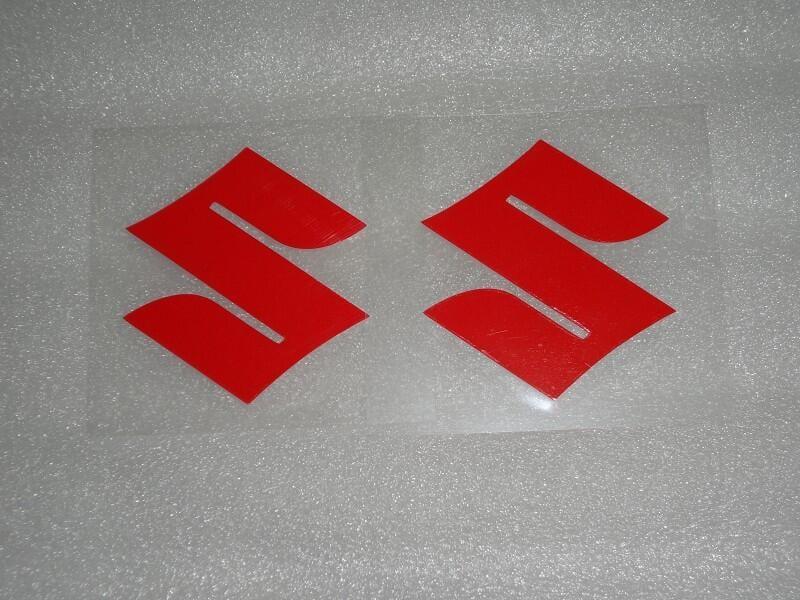 3M貼紙 2入裝 紅色S 字母 SUZUKI 鈴木 裝飾貼紙 車身 安全帽 油箱
