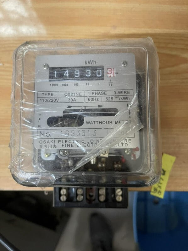 OSAKI/FUJI ELECTRIC大崎電氣/富士電機 分電表 (30A) 瓦時計 租屋 套房 電表 電錶