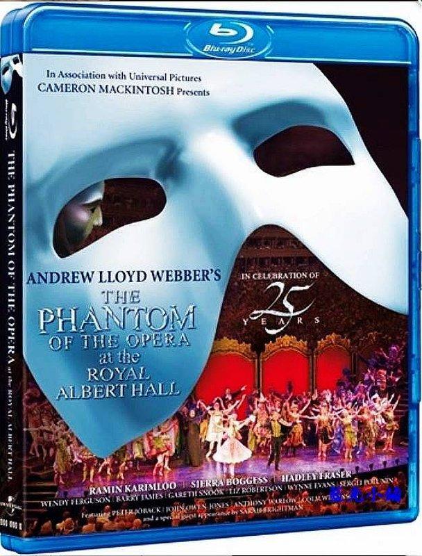 [藍光小鋪][現貨] 歌劇魅影 : 25週年英國皇家亞伯特音樂廳Phantom of the Opera[台式繁中字幕]
