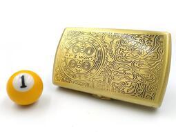 ◤球球玉米斗◢ 正品 雙槍菸盒 *地域神探康斯坦丁* 銅合金薄型設計 (8MM可放12支)