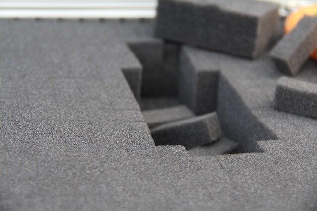 多用途工具箱儀器箱防震專用配置格子海綿 規格二:41*29*4(cm)軒海綿