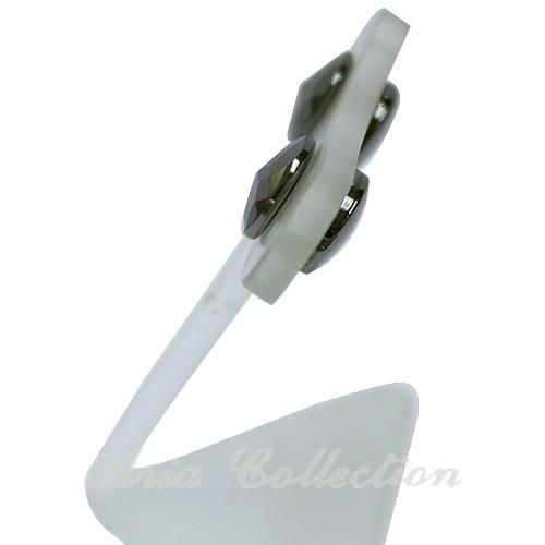 磁性耳環 黑膽石耳環 鐵灰色耳環 J011-2