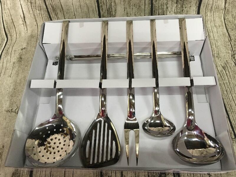 小口米iStore  德國 WMF 鍋鏟 醬料匙 勺子 廚房小工具 六件組 含固定架