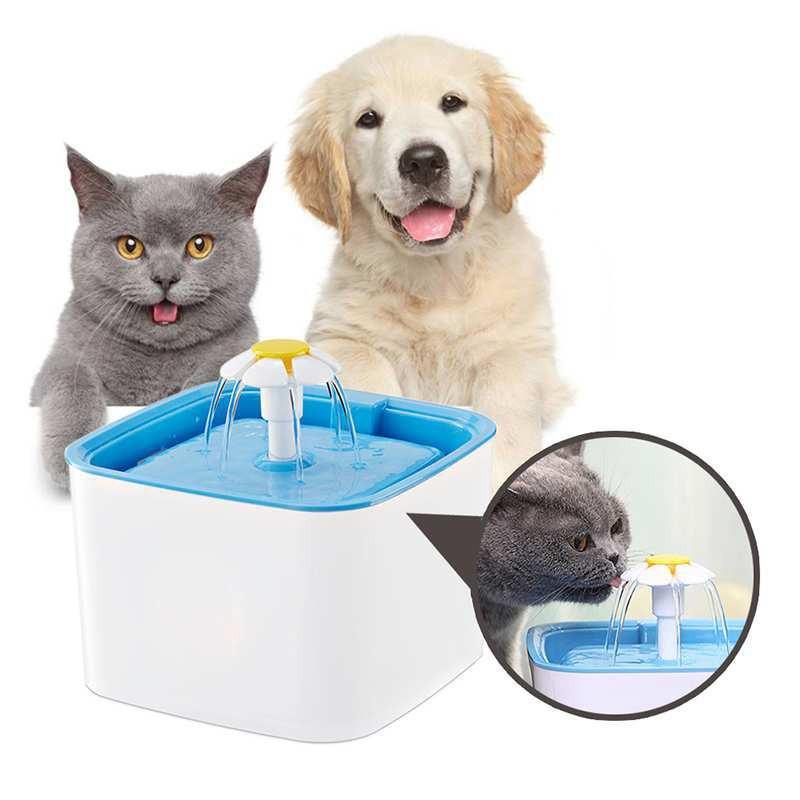 ☆Pet-Love★寵物自動飲水機 方形迷你花朵自動飲水器 寵物飲水