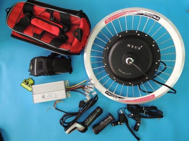 高雄【新素主義】DIY電動腳踏車套件48V500W電機 可磁剎回充 爬坡利器 另有卡飛電機( 電動自行車)