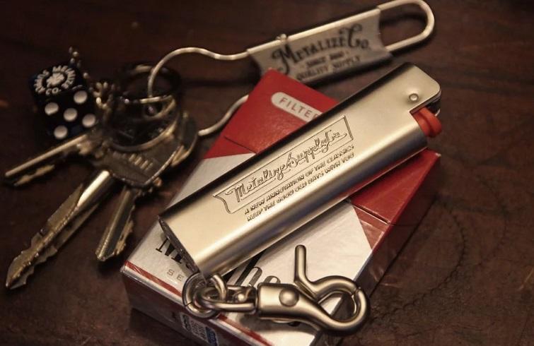 《美式工廠》METALIZE  Cricket/黃銅打火機套-越戰中指(霧銀) harley 883 48