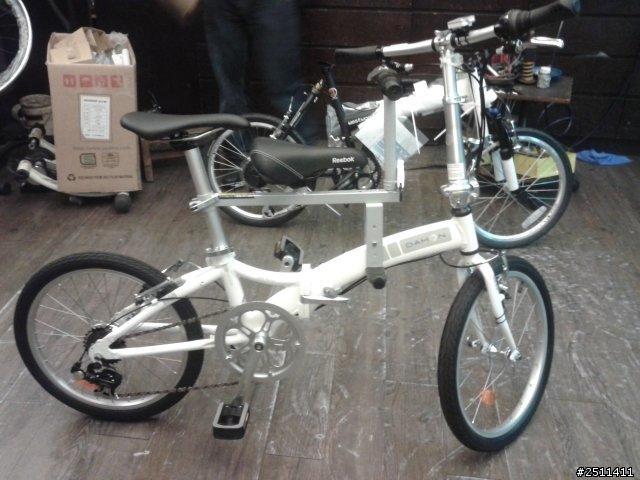 瑞峰快拆親子座 裝上DAHON折疊車的樣子 變親子腳踏車