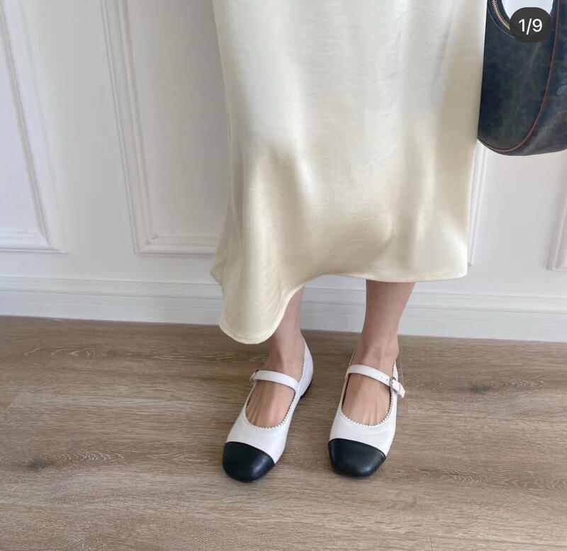 Jisoo代購 全新CHANEL香*奈兒 2021早春新款 黑白拼色 女鞋 瑪麗珍鞋 娃娃鞋 芭蕾舞鞋 超美