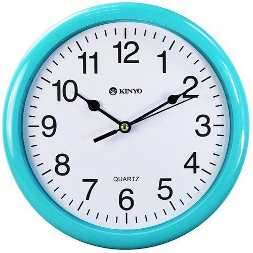 全新原廠保固一年KINYO圓形精緻8吋掃秒靜音掛鐘(CL-108)