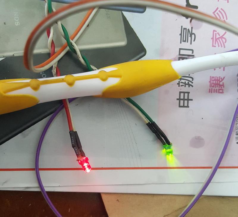 二手良品-電腦HD運轉指示燈,電源指示燈,接主機板,長約40-50公分,保40天.LED.