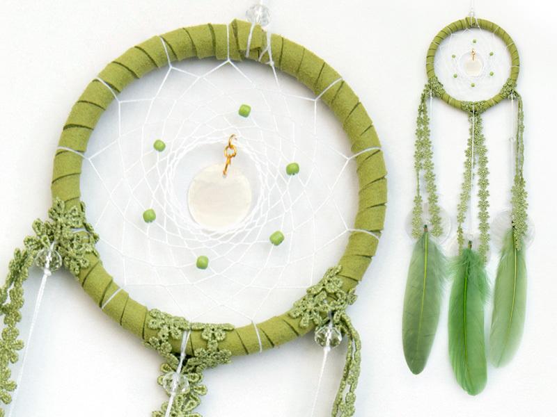 捕夢網 - diy材料包★草綠色★森林系 - 繼承者們款式 - 情人節禮物、聖誕禮物、交換禮物、生日禮物、畢業禮物最佳選