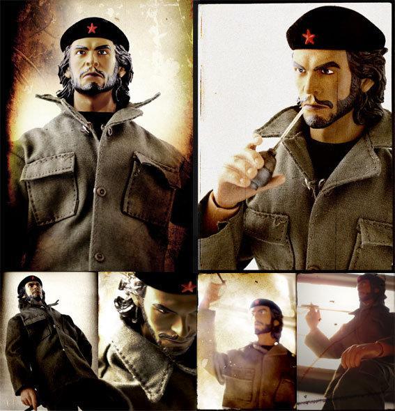 """2008即將上映熱門新片   切.格瓦拉 Che Guevara   12"""" Figure人型港式玩具公仔   限量版   附配件3件"""