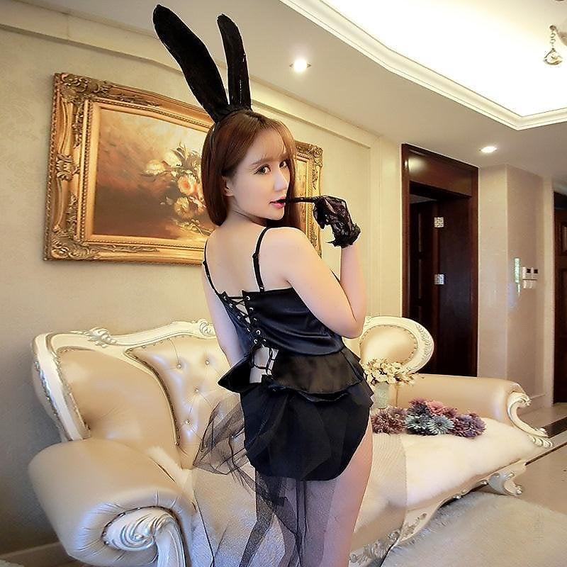 318百貨-情趣內衣女士連體性感制服演出服表演服兔女郎性感透明三