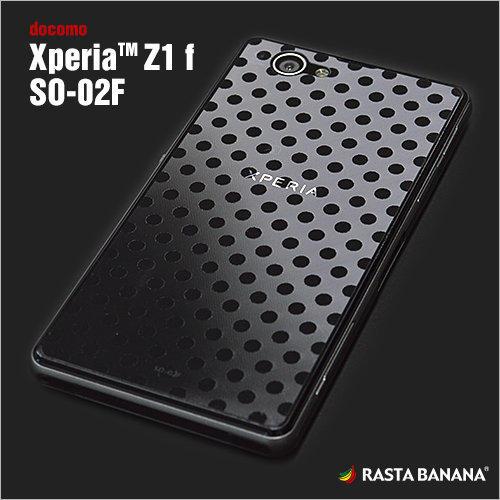 日本製Sony Xperia Z1 Compact D5503 高質感 透明 波爾卡圓點紋 水玉紋 背貼 保護貼 保護膜 Rasta Banana Z496SO02F3