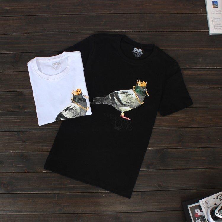 潮牌 DGK 皇冠鴿子 短袖 T恤 歐美復古簡約 打底 男女情侶
