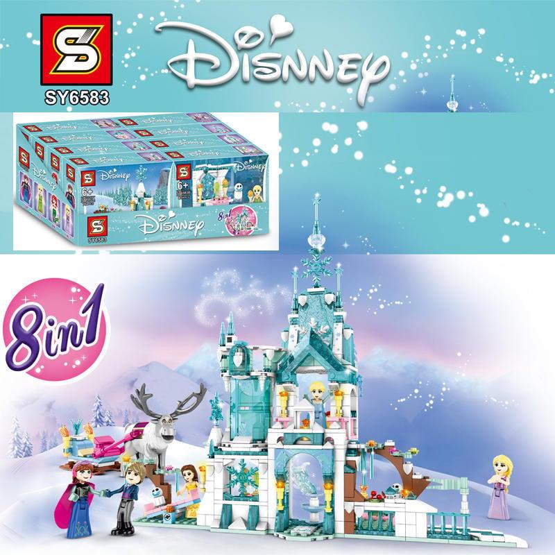 *樵夫遊樂園* SY6583 (現貨)  冰雪奇緣 冰雪城堡 八合一  非 樂高 LEGO