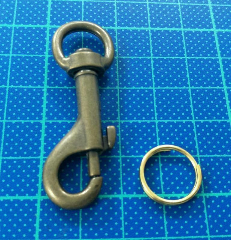 天母飾品 金屬掛勾+O環 一對