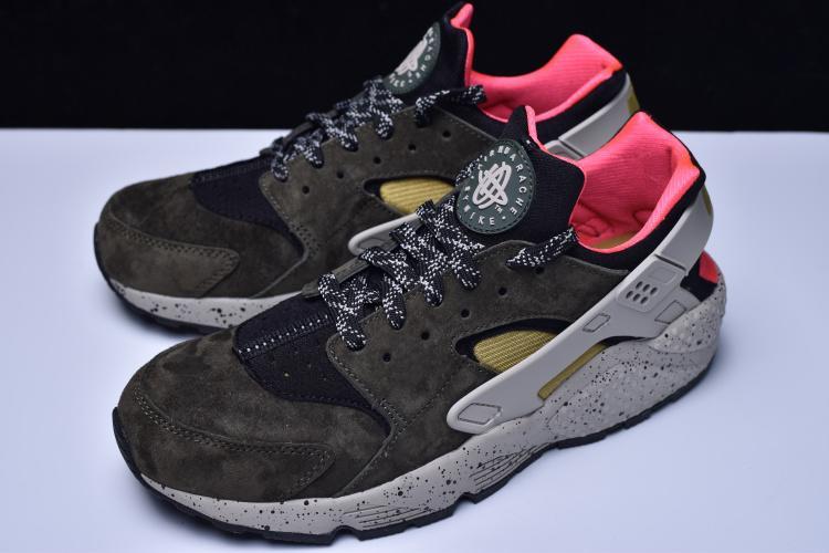 bd1bbc03f4e Nike Air Huarache Run Premium 墨綠休閒運動704830-010 - 露天拍賣