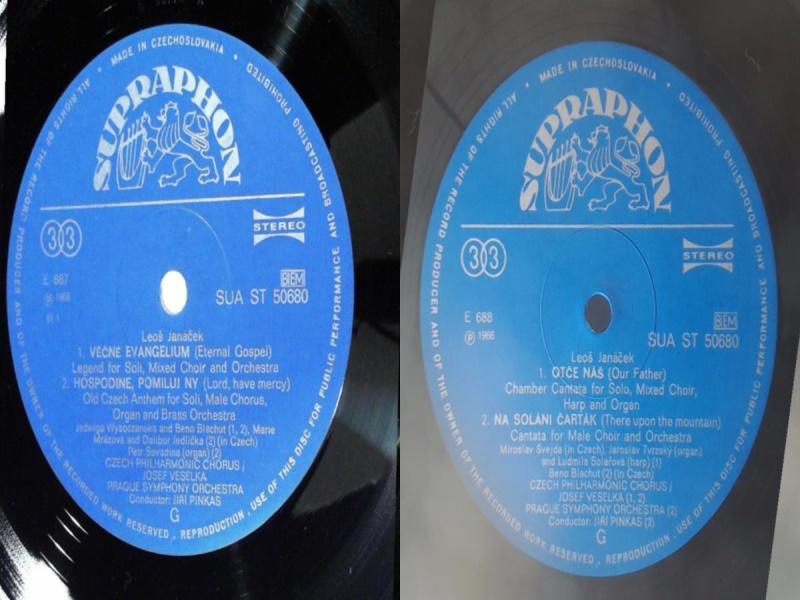 捷克斯洛伐克古典-Supraphon/50680/楊納傑克:合唱清唱劇/冰格斯-捷克愛樂合唱團,威賽卡-布拉格交響樂團