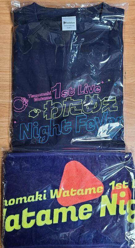 [ALG] 現貨 Hololive 角卷綿芽 1st Live Night Fever!! T-Shirt 毛巾