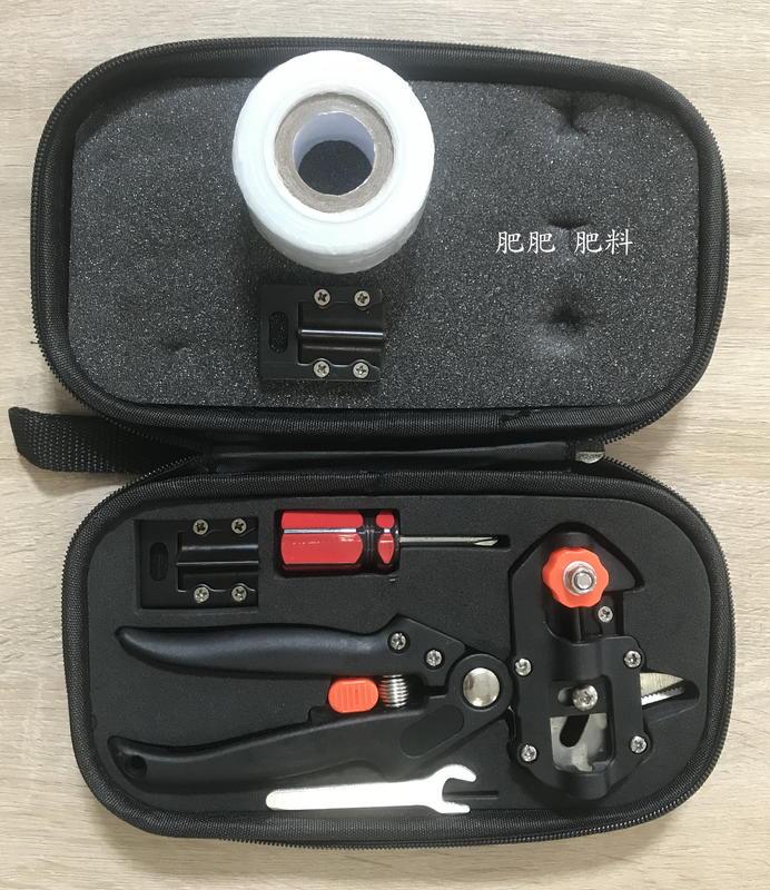 【肥肥】303  果樹嫁接器 嫁接刀 嫁接剪 嫁接機 送嫁接膜一捲 (含手提包+工具),一把嫁接機3刀片-1組。