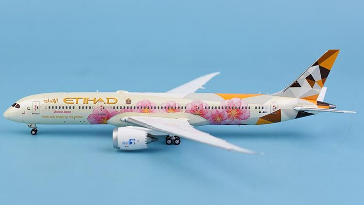 JC Wings 阿提哈德航空 Etihad Airways 787-9 A6-BLK 襟翼延伸 1:400