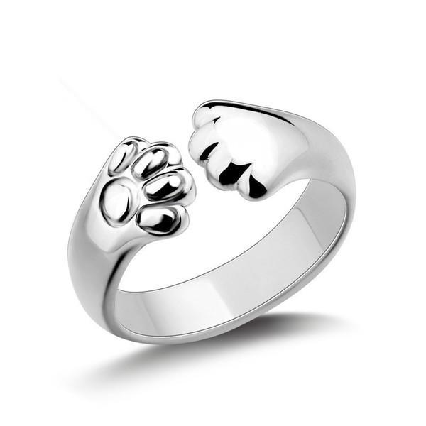 925銀戒指 女款 日韓時尚創意貓爪戒