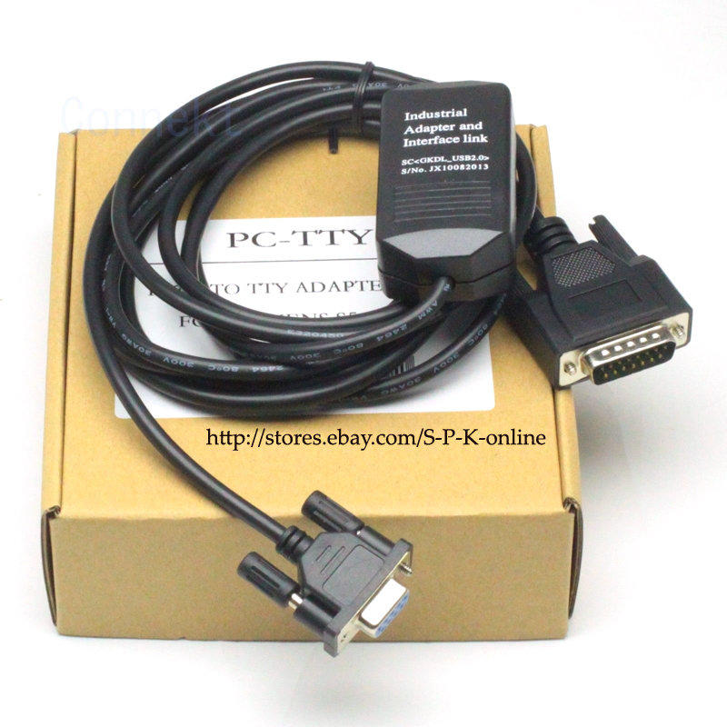 PC-TTY PCTTY Cable  PC to TTY 接口 for 西門子 S5系列傳輸線