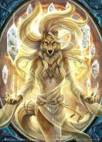【奇獸幻響】《寰宇星狼》維納斯海報    A2 狼人 狼 獸人 唯美 母獸 女神 宇宙 星球