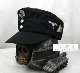 ◆◆ 淘精靈 大陸代購 ◆◆ 二戰德軍德軍M43黑色山地帽棉布版+金屬狙擊手帽徽(下標前, 請先詢問現價)