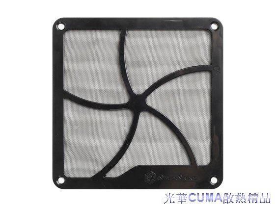 光華CUMA散熱精品*銀欣 SST-FF141B 14CM塑膠濾網 /附磁鐵/可吸附鐵製機殼/附螺絲/可鎖在風扇上~現貨
