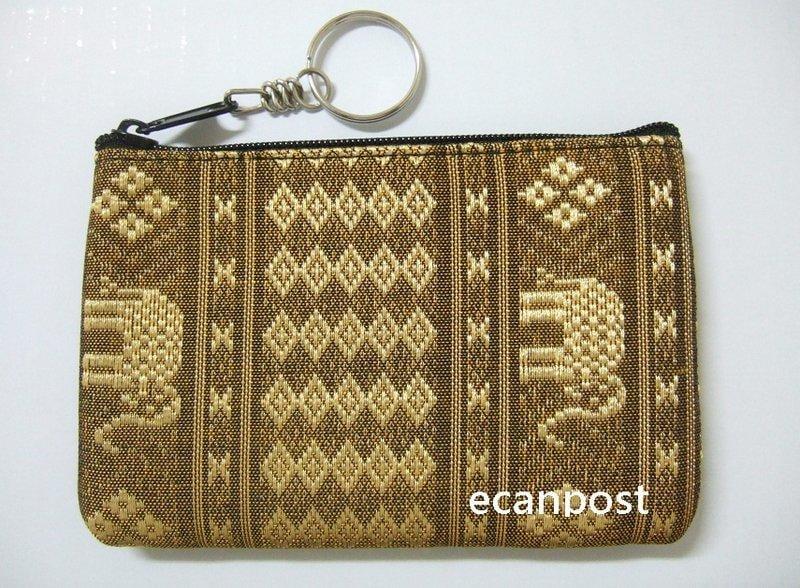 泰國大象零錢包 收納包 刺繡 布面 隨身攜帶 可愛 實用 生日 小 禮物 女性