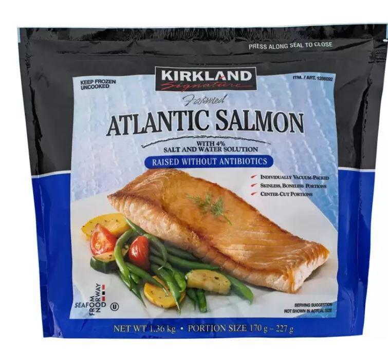 ( COSTCO 好市多 代購 ) Kirkland Signature科克蘭 冷凍鮭魚排 1.36公斤