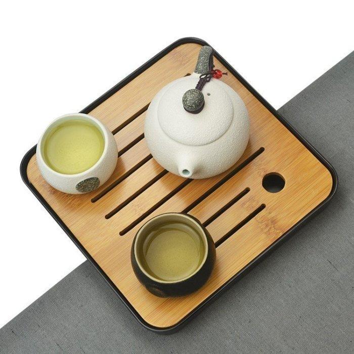 茶具套裝功夫茶茶具套裝 家用 半自動木質懶人功夫茶杯茶道陶瓷整套實木茶盤Igo