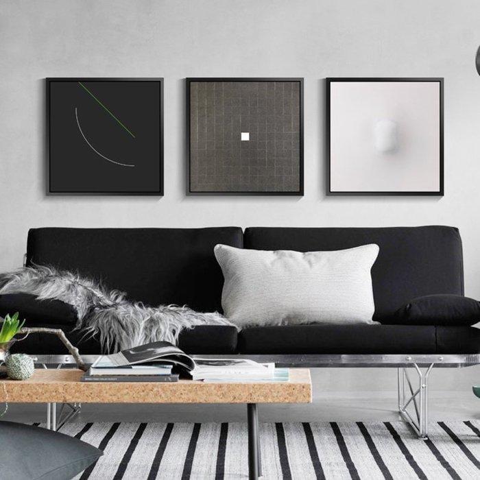 現代簡約抽象裝飾畫客廳樣板間墻畫壁畫黑白極簡藝術畫北歐掛畫