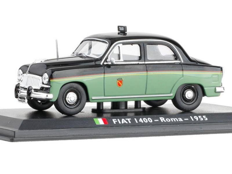 【大大好物】世界計程車系列 羅馬 紀念品 生日禮物 飛雅特 FIAT I400 有底座及透明外殼 LEO 1/43
