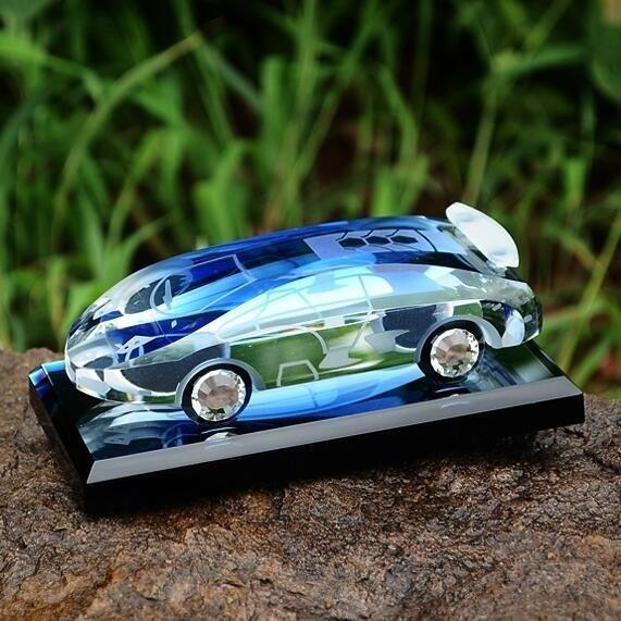 正韓威恩汽車香水車內飾品擺件 車用車載香水瓶座式水晶車模汽車上用品